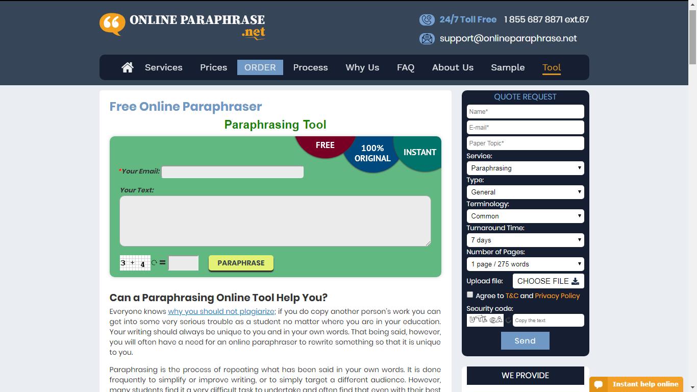 onlineparaphrase.net review