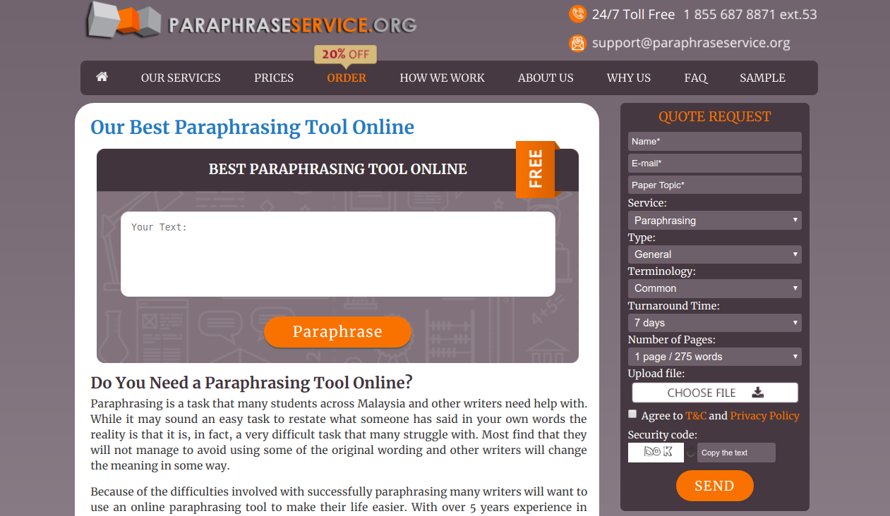 paraphraseservice.org paraphrasing tool