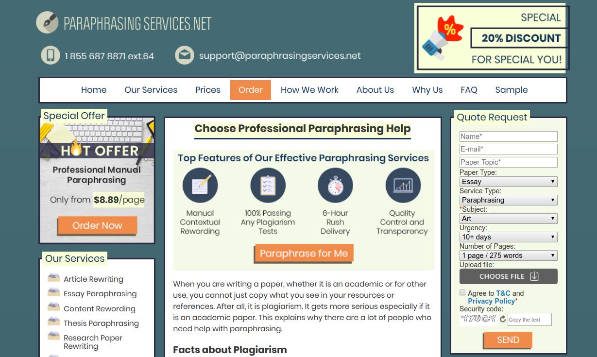 ParaphrasingServices.net remove plagiarism