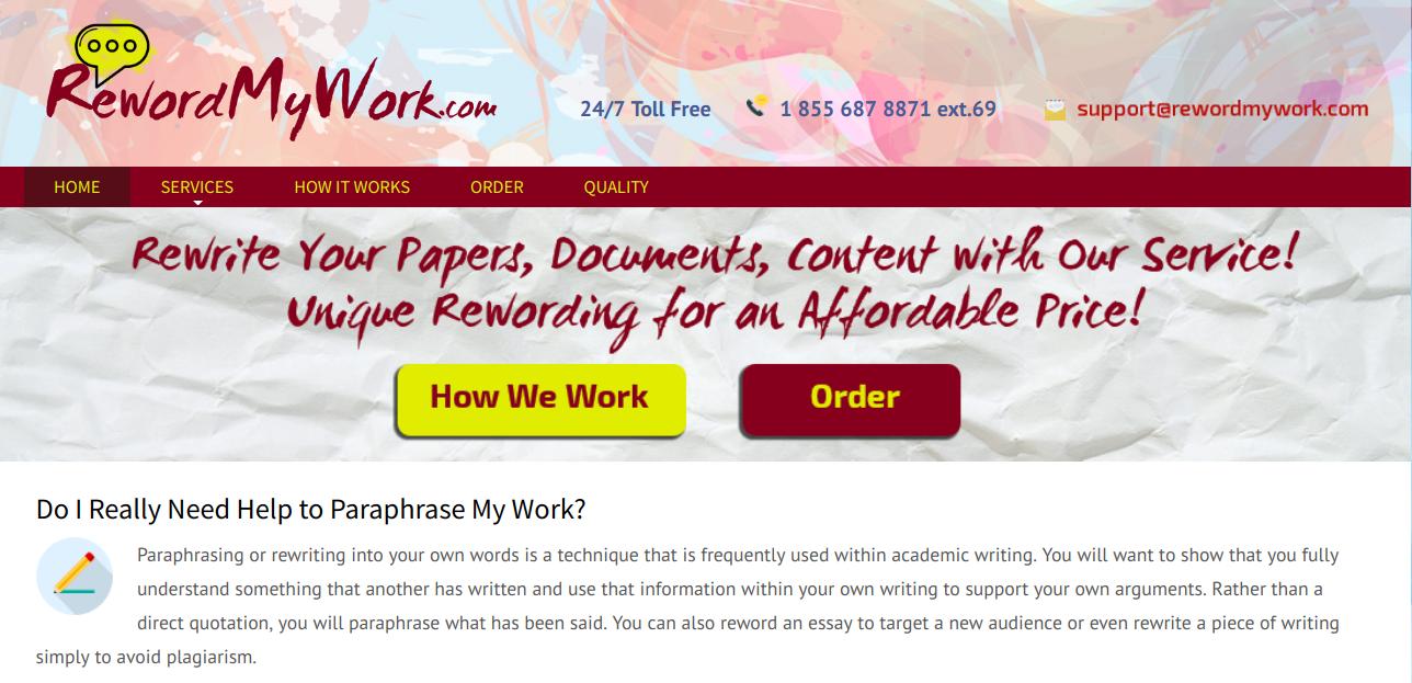 rewordmywork.com rewordmy work
