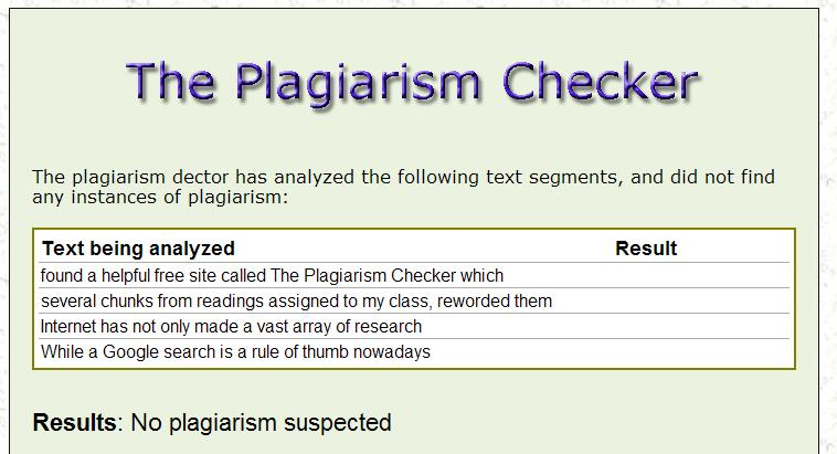 free accurate plagiarism checker