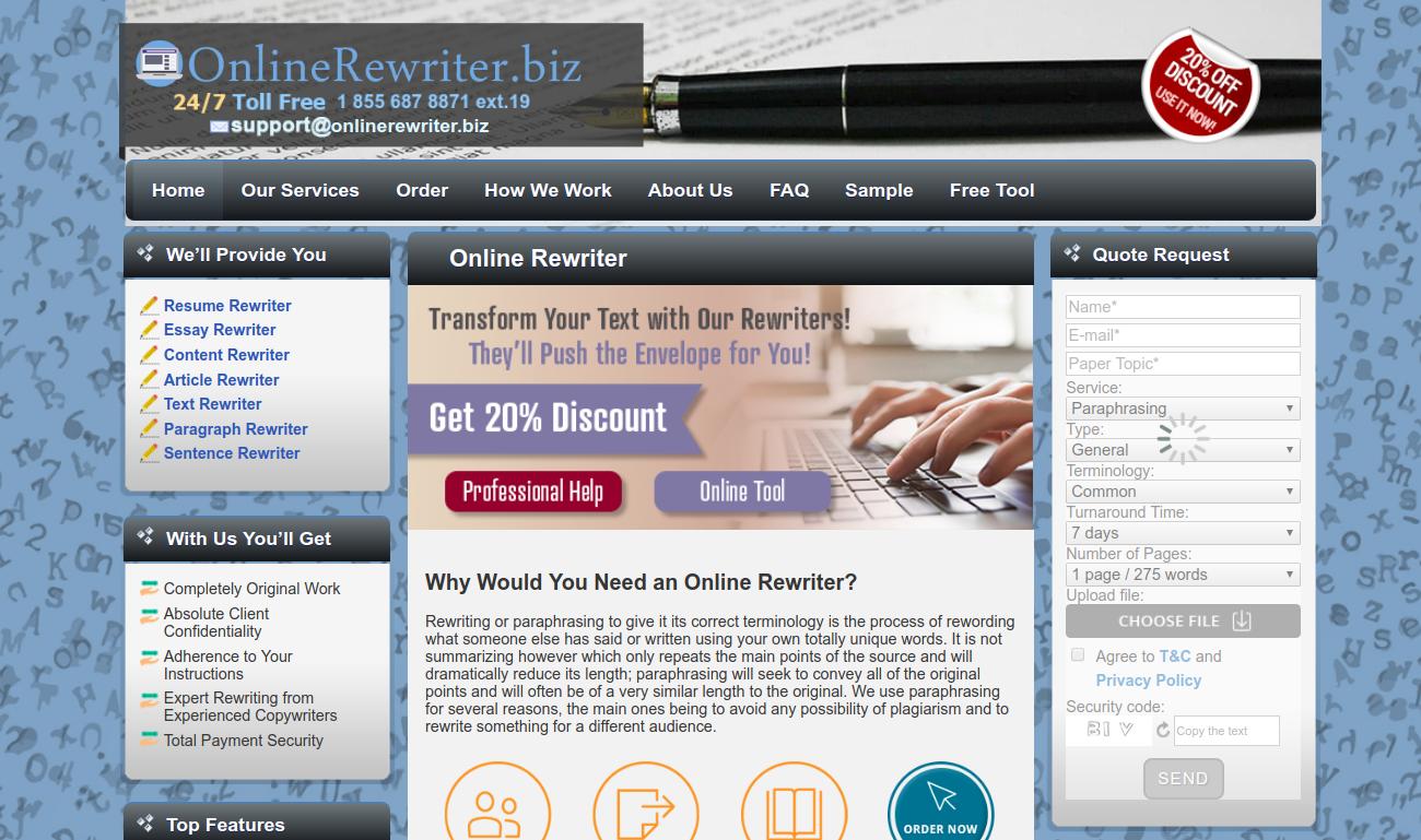 onlinerewriter.biz online rewriter