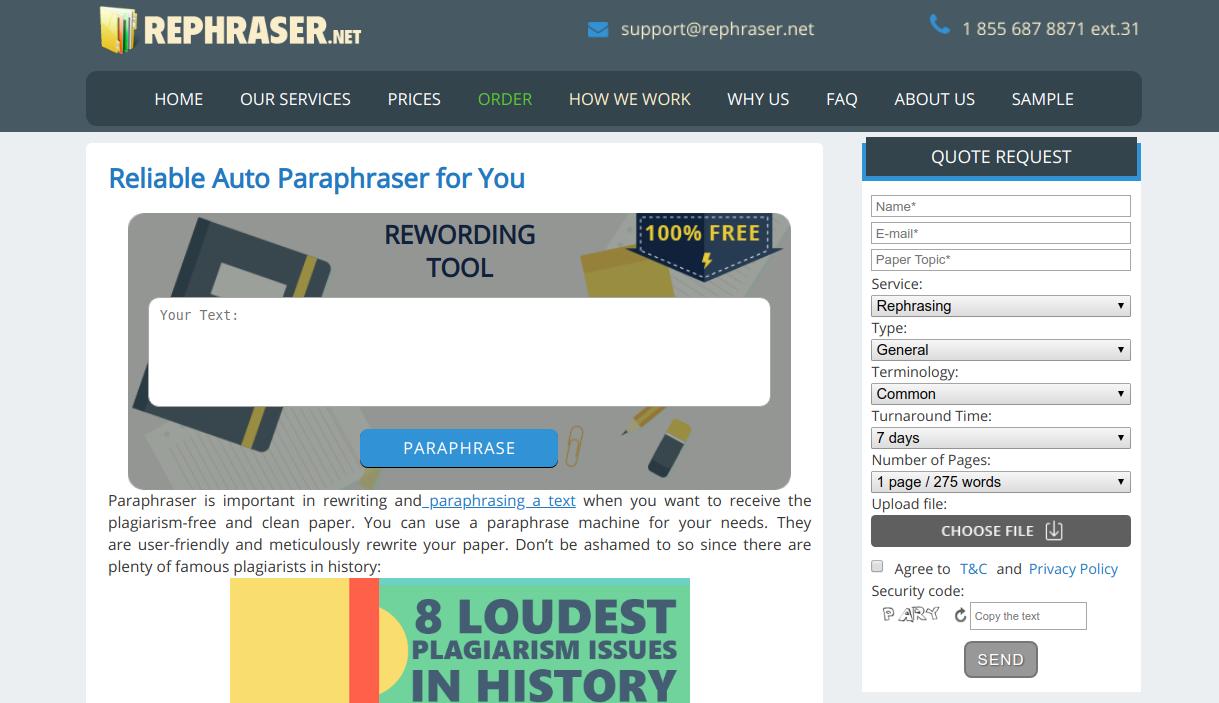 rephraser.net auto rephraser