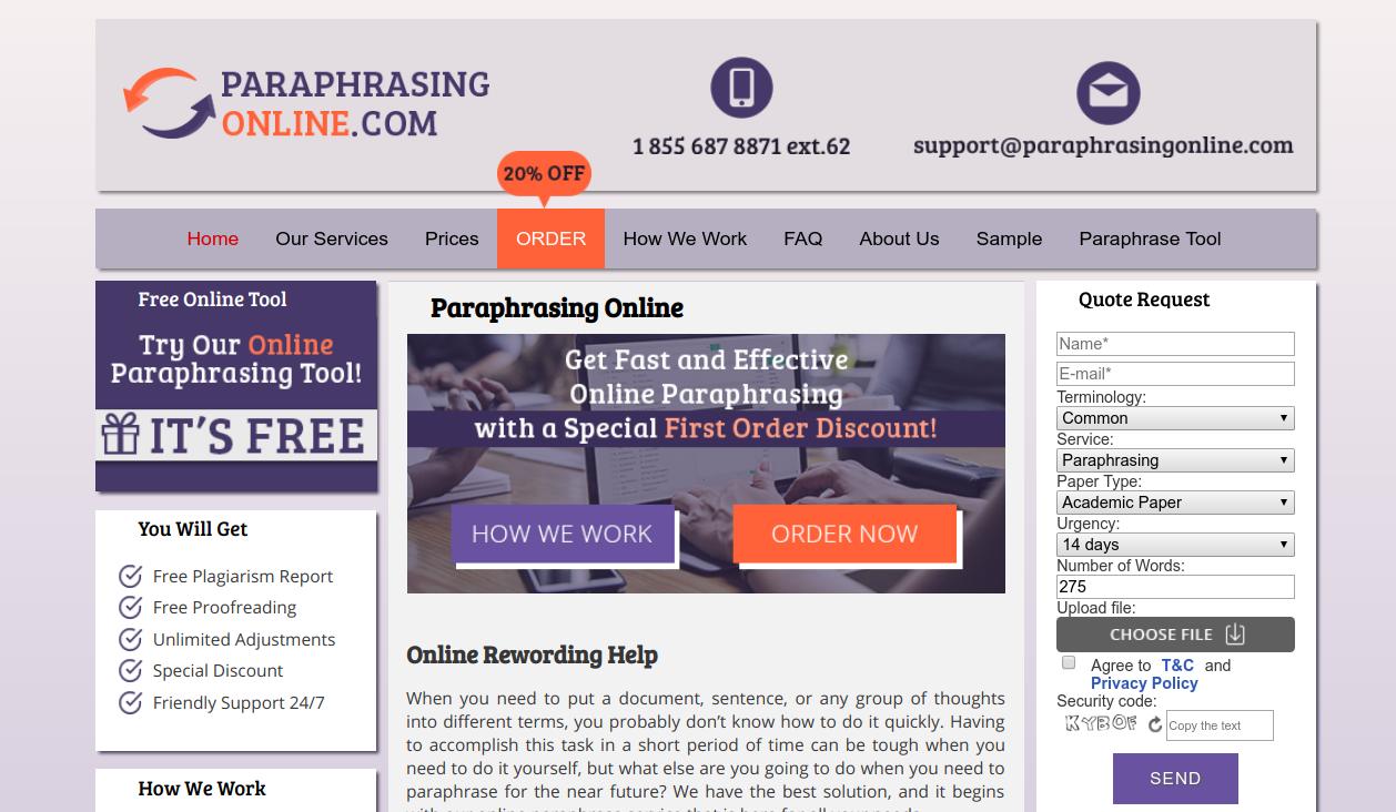 paraphrasingonline.com review
