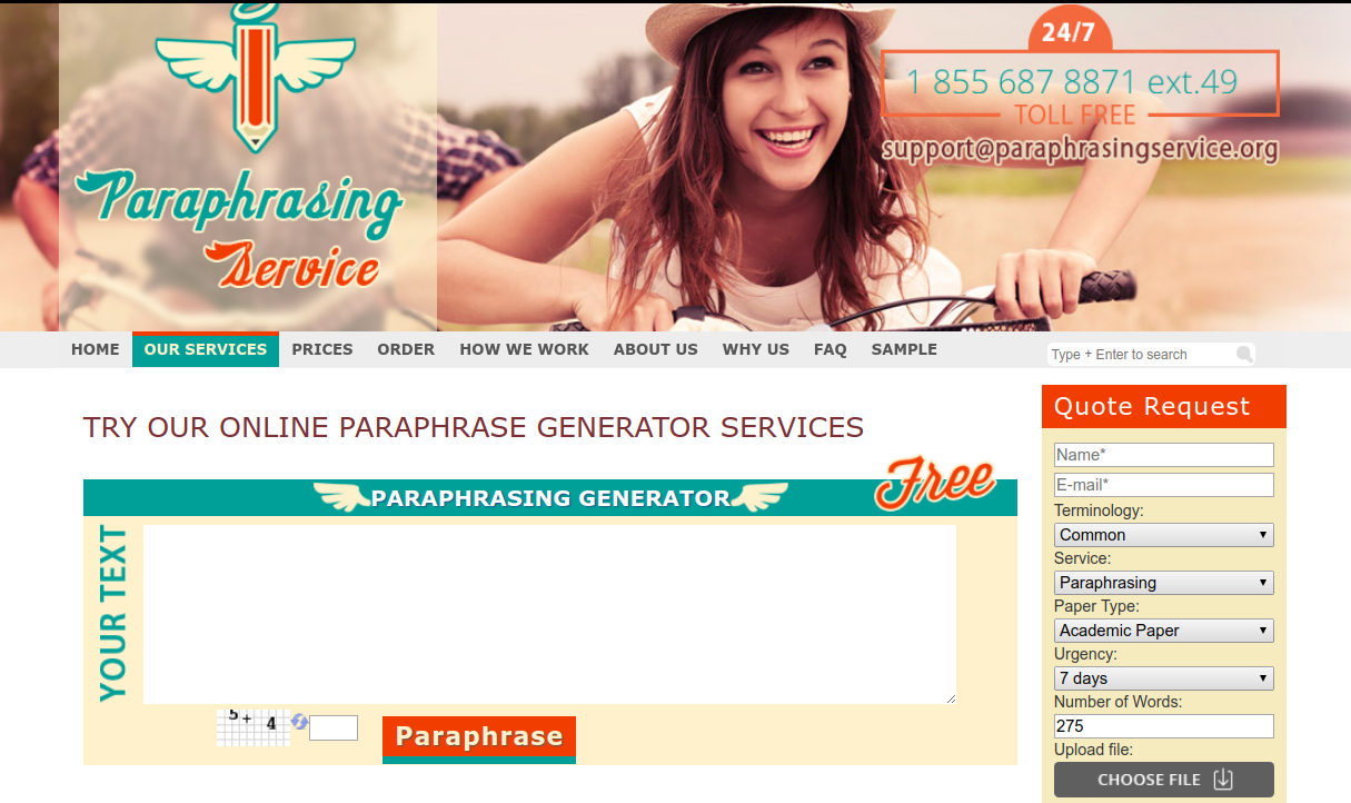 paraphrasingservice.org review