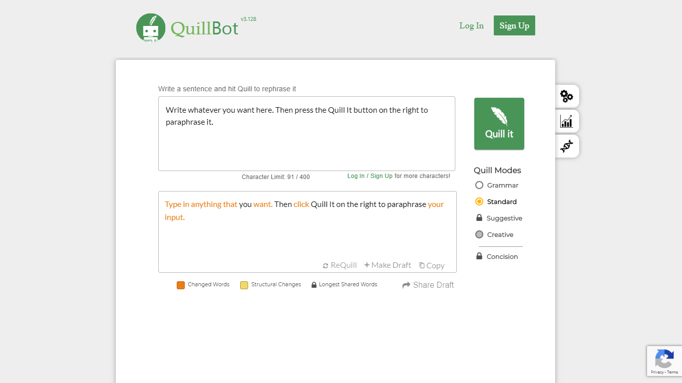 quillbot.com english paraphrasing tool