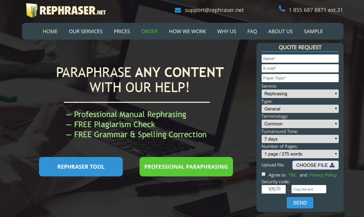 rephraser.net unplagiarizer online