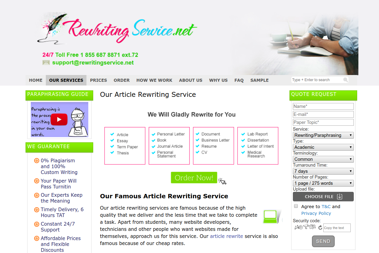 rewritingservice.net review