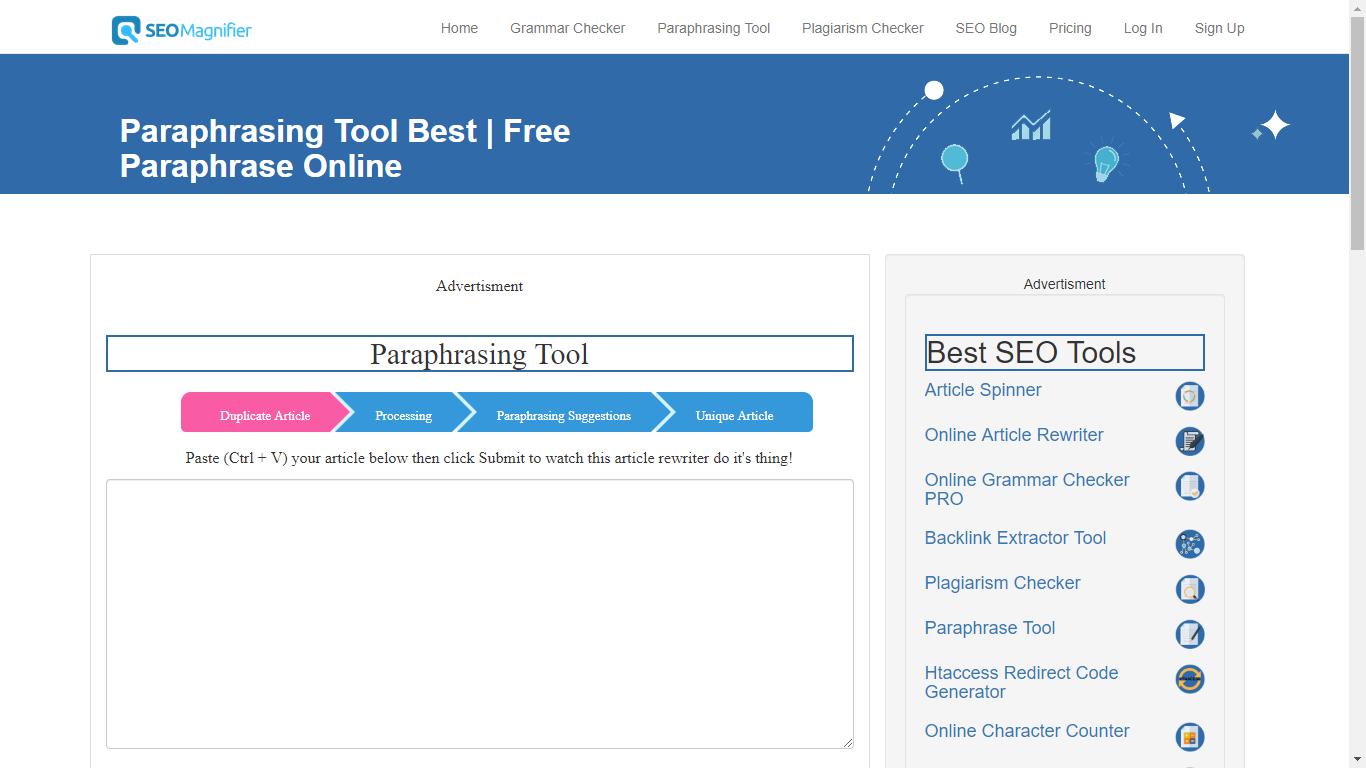 seomagnifier.com best automatic paraphraser